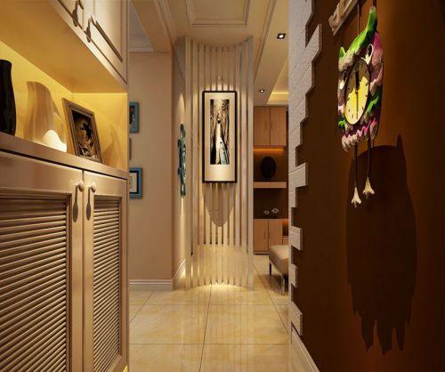 现代简约三居室玄关储物柜装修效果图欣赏