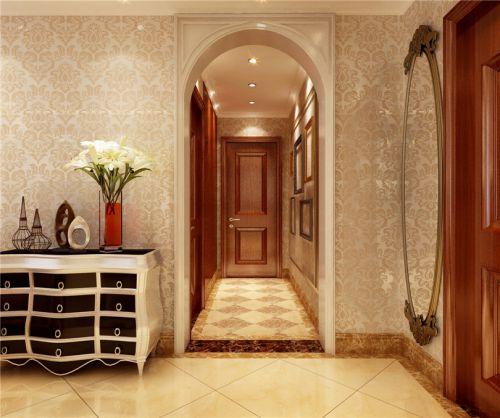现代简约二居室玄关楼梯装修图片