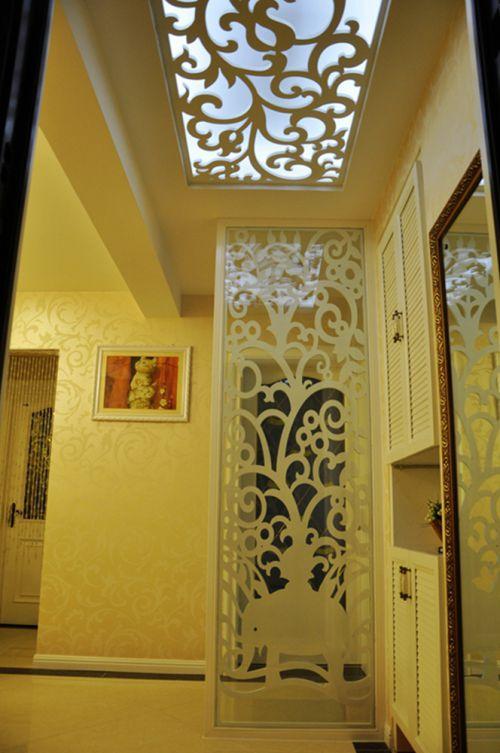 现代简约二居室玄关隔断装修图片