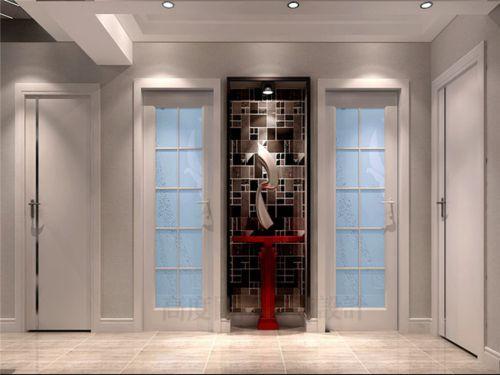 现代简约三居室玄关瓷砖装修图片