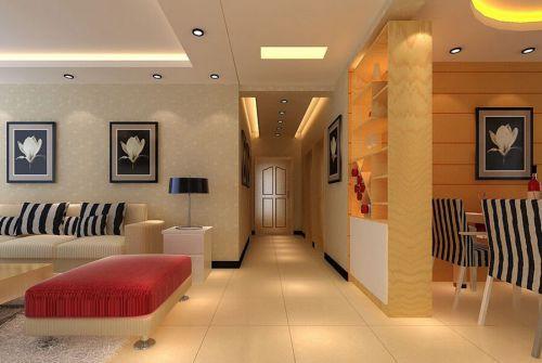 现代简约三居室玄关走廊装修效果图欣赏