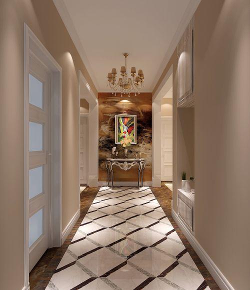 现代简约三居室玄关背景墙装修效果图大全