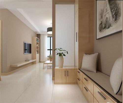 现代简约三居室玄关隔断装修效果图