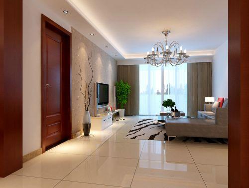 现代简约三居室玄关屏风装修效果图大全