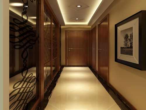 现代简约二居室玄关走廊装修效果图