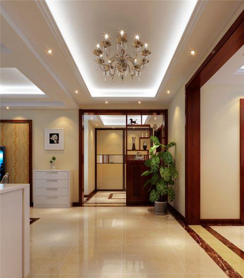 现代简约四居室玄关壁纸装修效果图大全