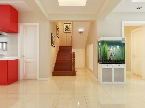 现代简约复式玄关楼梯装修效果图欣赏