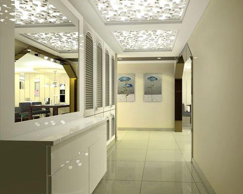 现代简约三居室玄关吊顶装修效果图欣赏