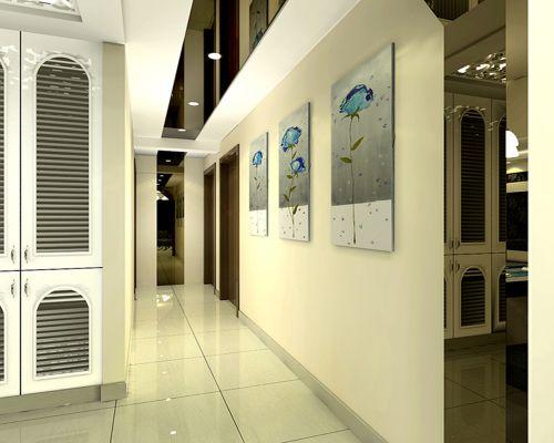 现代简约三居室玄关鞋柜装修图片