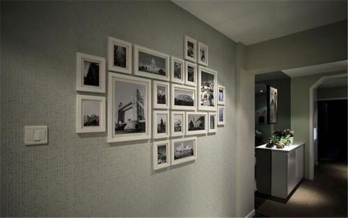 现代简约三居室玄关吊顶装修效果图