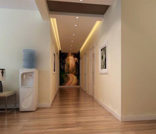 现代简约四居室玄关走廊装修图片