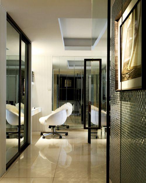 现代简约三居室玄关走廊装修效果图大全