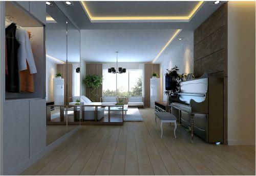 现代简约二居室玄关储物柜装修效果图欣赏
