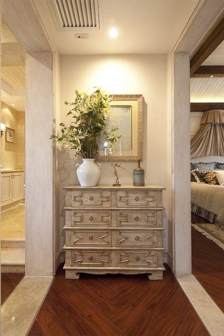 现代简约五居室玄关壁纸装修效果图欣赏