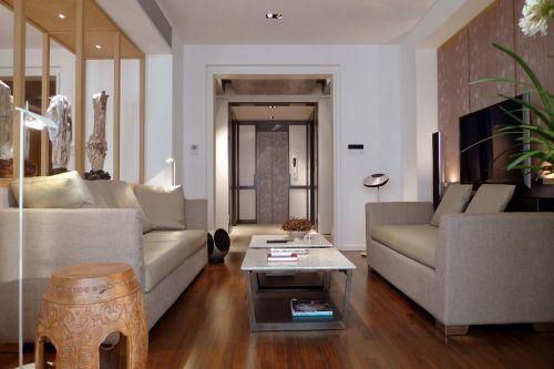 现代简约五居室玄关屏风装修图片
