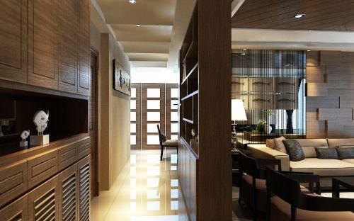 现代简约五居室玄关走廊装修图片