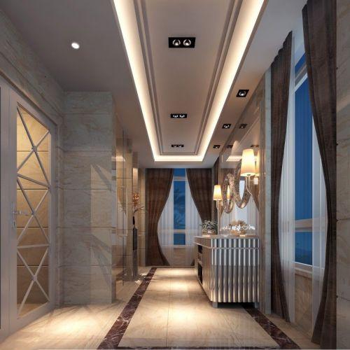 现代简约五居室玄关吊顶装修效果图欣赏