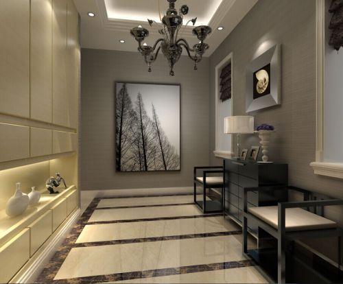 现代简约五居室玄关装修效果图欣赏
