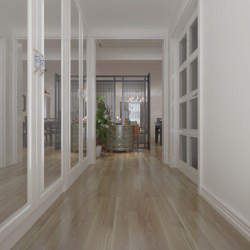 现代简约三居室玄关隔断装修效果图大全