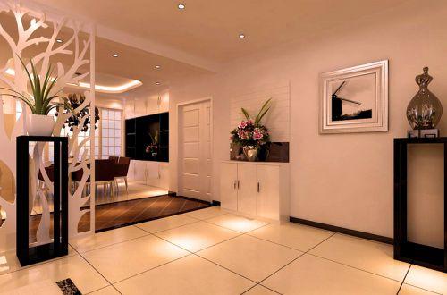 现代简约三居室玄关隔断装修效果图欣赏