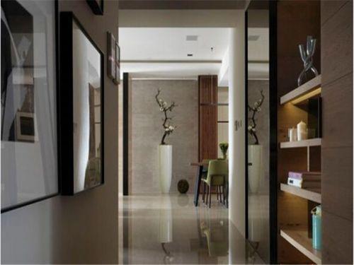 现代简约三居室玄关隔断装修图片