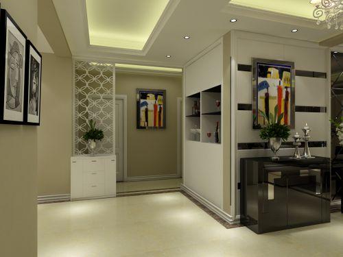 现代简约三居室玄关储物柜装修图片