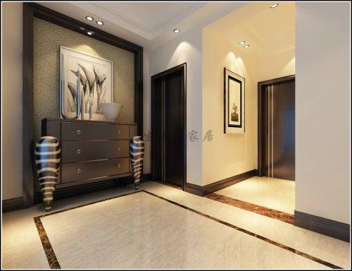 现代简约四居室玄关鞋柜装修效果图