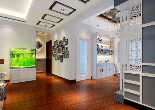 现代简约三居室玄关装修效果图