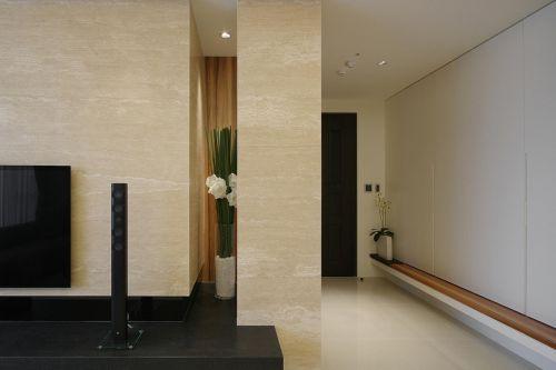 现代简约四居室玄关屏风装修效果图欣赏