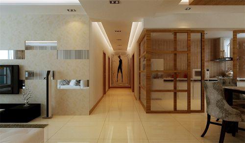 现代简约四居室玄关楼梯装修图片
