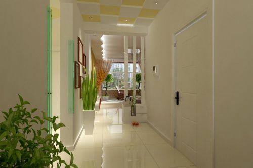现代简约二居室玄关楼梯装修效果图