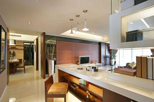 现代风格三居室玄关装修效果图大全