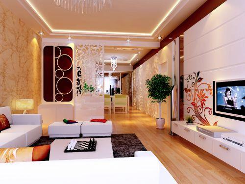 现代简约二居室玄关装修图片