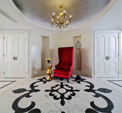 现代美式别墅玄关装修效果图大全