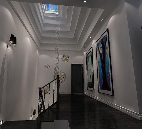 现代简约五居室玄关楼梯装修图片