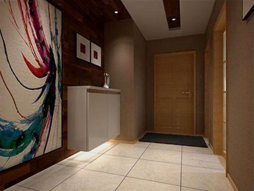 现代简约一居室玄关装修图片