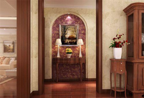 现代简约二居室玄关背景墙装修效果图
