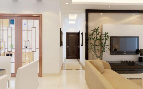 现代简约二居室玄关隔断装修效果图大全