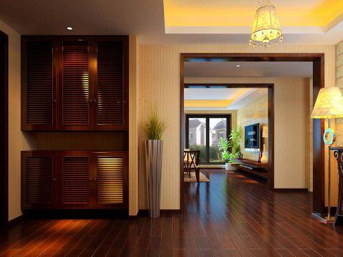 现代新古典风格五居室玄关装修效果图