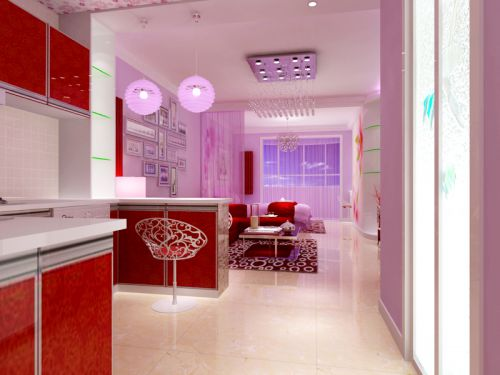 现代简约一居室玄关装修效果图欣赏