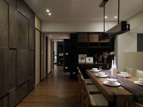 时尚优雅现代风格餐厅背景墙装修图片