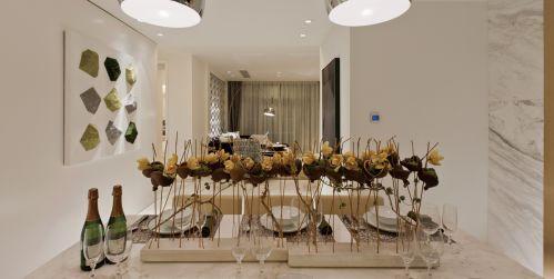 优雅气质现代风格餐厅装修实景图