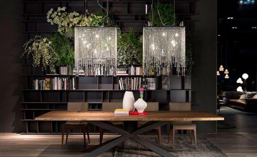 现代风格黑色书中餐厅装修设计