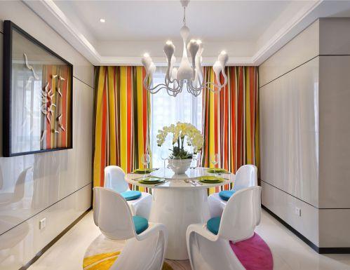 三居室时尚现代风格餐厅装修效果图