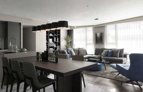 创意吊灯现代简约风格餐厅装修效果图