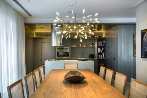 时尚气质现代风格餐厅灯具装修效果图