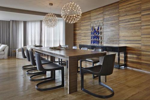 时尚轻奢现代风格餐厅灯具装修设计