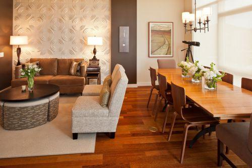 暖意现代风格开放式餐厅装修设计