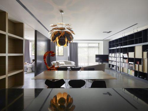 雅致高贵现代风格餐厅灯具装修图片
