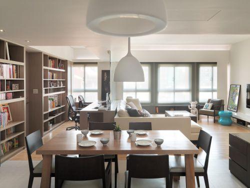现代风格开放式餐厅装修图片